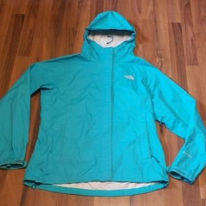 The North Face Hyvent 2.5L Turquoise Rain Jacket